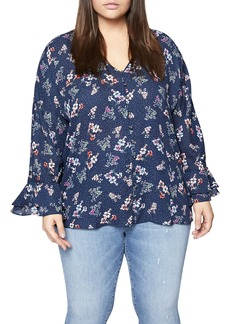 Sanctuary Posey Floral Blouse (Plus Size)