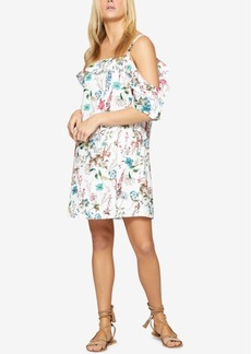 Sanctuary Primrose Cold-Shoulder Floral-Print Dress