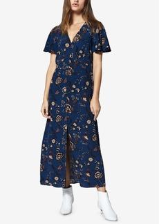 Sanctuary Printed Button-Front Maxi Dress