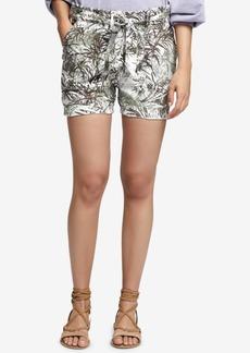 Sanctuary Printed Linen Tie-Waist Shorts