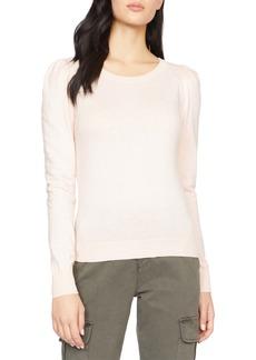 Sanctuary Puff Shoulder Cotton Blend Sweater