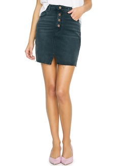 Sanctuary Raw Edge Denim Miniskirt (Echo Black)