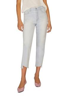 Sanctuary Raw-Hem Cropped Jeans in Soto Blue