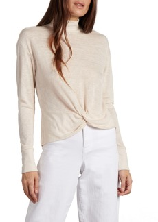 Sanctuary Ready or Knot Mock Neck Top