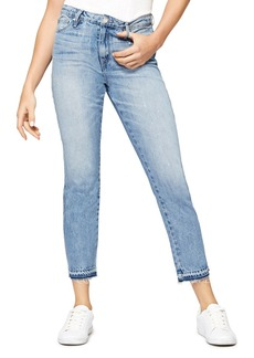 Sanctuary Released Hem Straight Jeans in Abigail Wash