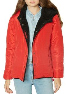 Sanctuary Reversible Faux-Fur & Quilted Jacket