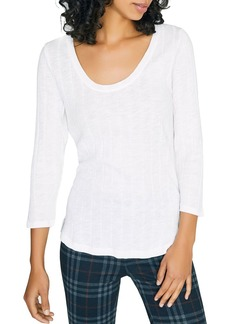 Sanctuary Ribbed Scoop-Neck Top