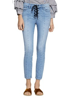 Sanctuary Robbie Lace-Up Cropped Jeans in Evelyn
