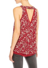 Sanctuary Rose Print Double Layer Tank
