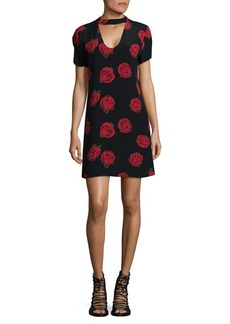 Sanctuary Rose-Print Shift Dress