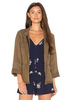 Sanctuary Roy Frayed Jacket in Olive. - size L (also in M,S,XS)