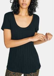 Sanctuary Ruby Scoop Solid Ribbed T-Shirt