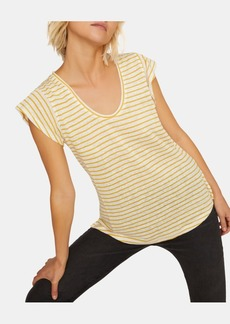 Sanctuary Ruby Striped Scoop-Neck Linen T-Shirt