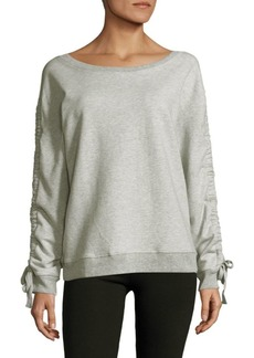 Sanctuary Ruched Cotton Sweatshirt