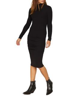 Sanctuary Ruched Turtleneck Dress (Regular & Petite)