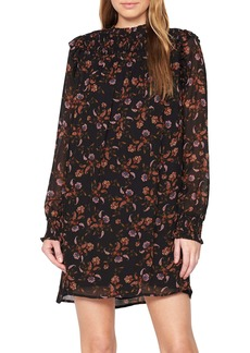 Sanctuary Run Wild Floral Long Sleeve A-Line Dress