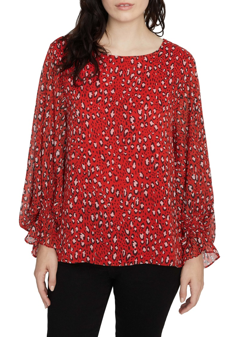 Sanctuary Rylee Print Smocked Cuff Blouse