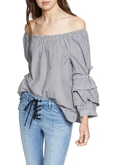 Sanctuary Saffron Folded Sleeve Blouse