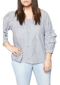 Sanctuary Saffron Folded Sleeve Blouse (Plus Size)