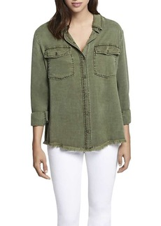 Sanctuary Sancutary Women's Gibson Raw Hem Shirt