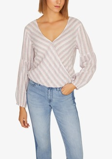 Sanctuary Sand Dune Striped Wrap Top