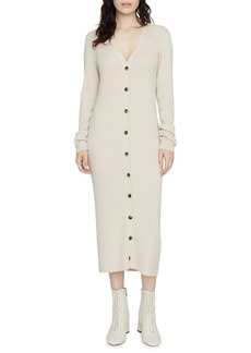 Sanctuary Sandy Button-Up Long Sleeve Midi Sweater Dress (Regular & Petite)