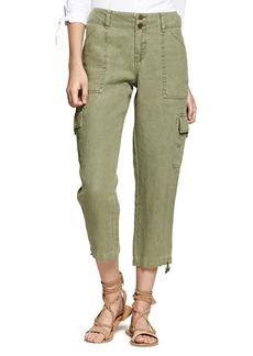 Sanctuary Sasha Cropped Linen Pants