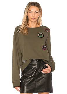 Sanctuary Scout Sweatshirt in Army. - size L (also in M,S,XS)