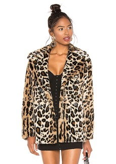 Sanctuary Seeing Spots Faux Fur Coat