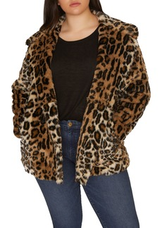 Sanctuary Seeing Spots Faux Fur Coat (Plus Size)