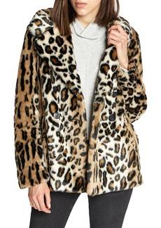 Sanctuary Seeing Spots Faux Fur Coat (Regular & Petite)