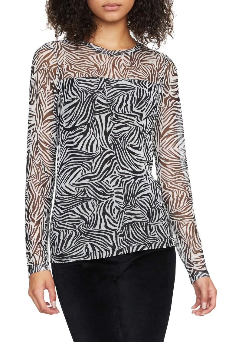 Sanctuary Sheer Talent Animal Print Mesh Top