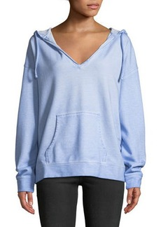 Sanctuary Shiloh Hooded V-Neck Stonewashed Hoodie
