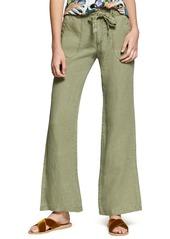 Sanctuary Shore Line Wide Leg Linen Pants