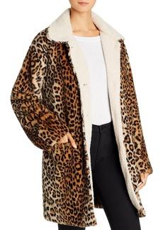 Sanctuary Sierra Faux-Fur Leopard-Print Coat