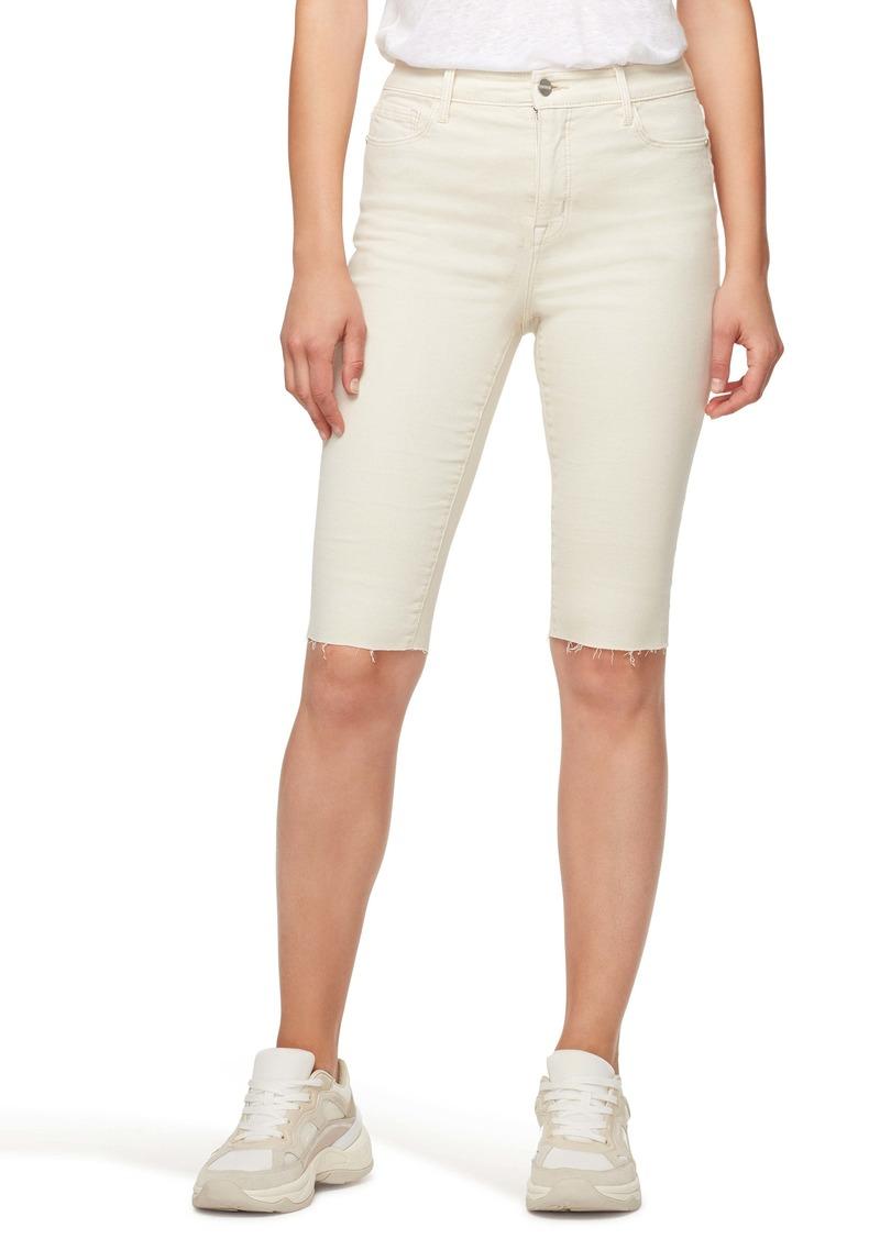 Sanctuary Skimmer High Waist Bermuda Shorts (Moonstone)