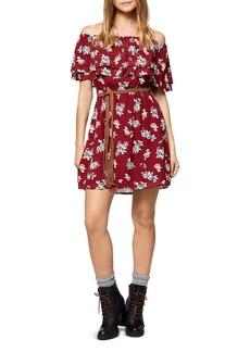 Sanctuary Skylar Off-the-Shoulder Floral Print Dress