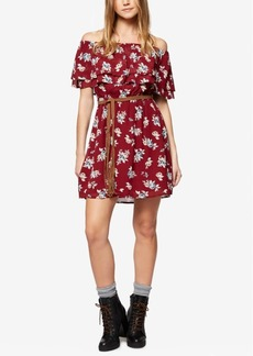 Sanctuary Skylar Printed Off-The-Shoulder Dress
