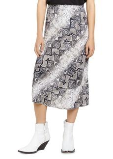 Sanctuary Snakeskin Everyday Midi Skirt