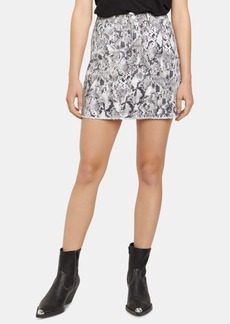 Sanctuary Snakeskin-Print Mini Skirt