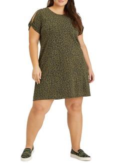 Sanctuary So Twisted Cotton Blend A-Line T-Shirt Dress (Plus Size)