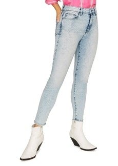 Sanctuary Social High Rise Ankle Jeans in Mountain Blue Acid