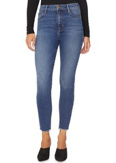 Sanctuary Social High Rise Frayed Ankle Skinny Jeans (Arena Blue)