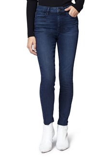 Sanctuary Social High Rise Raw Hem Skinny Ankle Jeans (Stockholm Blue)