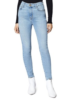 Sanctuary Social High-Rise Skinny Ankle Jeans in Light Blue