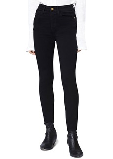 Sanctuary Social High Waist Ankle Skinny Jeans (Eyeliner)