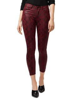 Sanctuary Social Standard High-Rise Ankle Skinny Jeans in Cobra Garnet