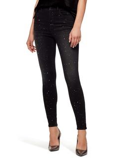 Sanctuary Social Standard High Waist Metallic Fleck Skinny Jeans (Starry Night)