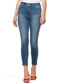 Sanctuary Social Standard High Waist Stud Detail Ankle Skinny Jeans (Songbird)