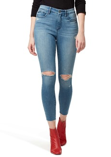 Sanctuary Social Standard Ripped High Waist Ankle Skinny Jeans (Durango)